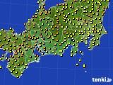 2015年07月02日の東海地方のアメダス(気温)