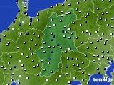 2015年07月02日の長野県のアメダス(風向・風速)