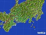 2015年07月03日の東海地方のアメダス(気温)
