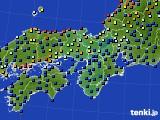 2015年07月05日の近畿地方のアメダス(日照時間)