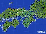 2015年07月06日の近畿地方のアメダス(日照時間)