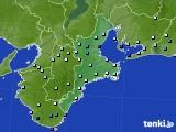 2015年07月08日の三重県のアメダス(降水量)