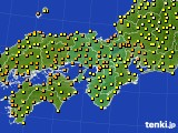 2015年07月08日の近畿地方のアメダス(気温)