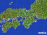 2015年07月09日の近畿地方のアメダス(気温)