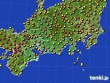 2015年07月10日の東海地方のアメダス(気温)