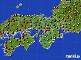 2015年07月10日の近畿地方のアメダス(気温)