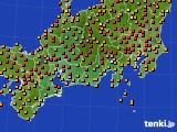 2015年07月11日の東海地方のアメダス(気温)