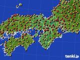 2015年07月11日の近畿地方のアメダス(気温)
