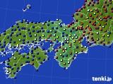 2015年07月12日の近畿地方のアメダス(日照時間)