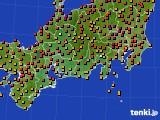 2015年07月13日の東海地方のアメダス(気温)