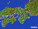 2015年07月13日の近畿地方のアメダス(気温)
