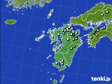 九州地方のアメダス実況(降水量)(2015年07月14日)