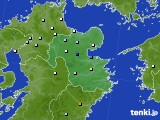 大分県のアメダス実況(降水量)(2015年07月14日)