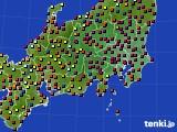 関東・甲信地方のアメダス実況(日照時間)(2015年07月14日)