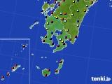 鹿児島県のアメダス実況(日照時間)(2015年07月14日)