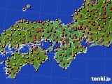 2015年07月14日の近畿地方のアメダス(気温)