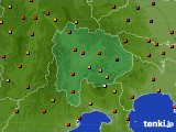 山梨県のアメダス実況(気温)(2015年07月14日)