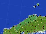 島根県のアメダス実況(気温)(2015年07月14日)
