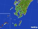 鹿児島県のアメダス実況(気温)(2015年07月14日)