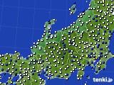 北陸地方のアメダス実況(風向・風速)(2015年07月14日)