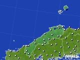 島根県のアメダス実況(風向・風速)(2015年07月14日)