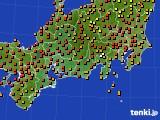 2015年07月15日の東海地方のアメダス(気温)