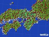 2015年07月15日の近畿地方のアメダス(気温)