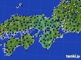 2015年07月16日の近畿地方のアメダス(日照時間)