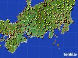 2015年07月16日の東海地方のアメダス(気温)