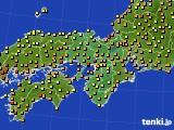 2015年07月16日の近畿地方のアメダス(気温)