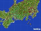 2015年07月17日の東海地方のアメダス(気温)