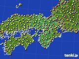 2015年07月17日の近畿地方のアメダス(気温)