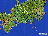 2015年07月18日の東海地方のアメダス(気温)