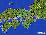 2015年07月19日の近畿地方のアメダス(気温)