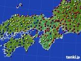 2015年07月20日の近畿地方のアメダス(日照時間)