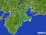 2015年07月20日の三重県のアメダス(日照時間)
