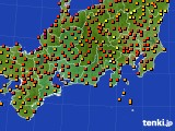 2015年07月20日の東海地方のアメダス(気温)