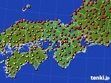 2015年07月20日の近畿地方のアメダス(気温)
