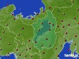 2015年07月21日の滋賀県のアメダス(気温)