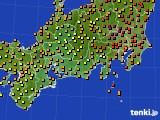 2015年07月22日の東海地方のアメダス(気温)
