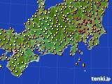 2015年07月23日の東海地方のアメダス(気温)