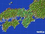 2015年07月23日の近畿地方のアメダス(気温)