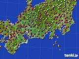2015年07月24日の東海地方のアメダス(気温)
