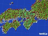 2015年07月24日の近畿地方のアメダス(気温)