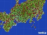 2015年07月25日の東海地方のアメダス(気温)