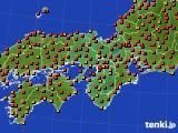 2015年07月25日の近畿地方のアメダス(気温)