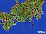 2015年07月26日の東海地方のアメダス(気温)