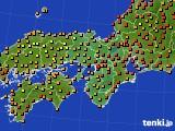 2015年07月27日の近畿地方のアメダス(気温)