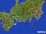 2015年07月28日の東海地方のアメダス(気温)