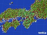 2015年07月28日の近畿地方のアメダス(気温)